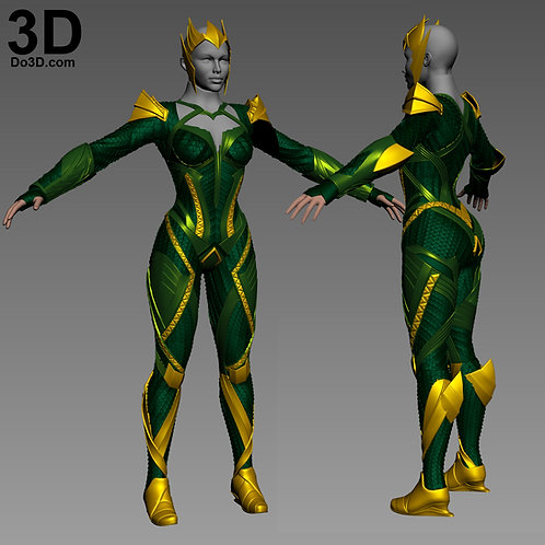 Mera Full Body Armor | 3D Model Project #3345