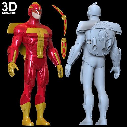 Turbo Man Jingle All The Way Armor | 3D Model Project #6254