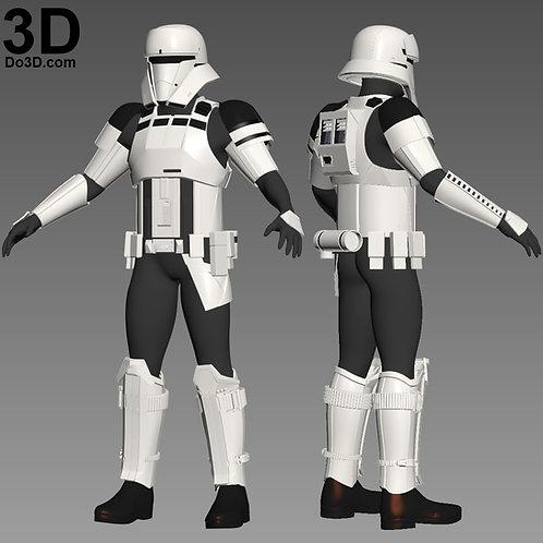 Hover Tank Trooper, Tanker, Commander, Driver Armor, 3D Model Project #1431