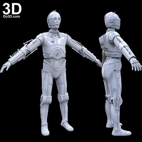 C-3PO C3PO Star Wars V: The Empire Strikes Back ESB | 3D Model Project #3959