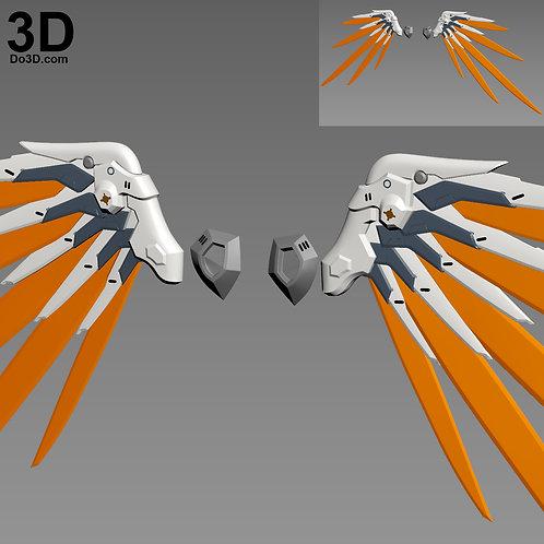 Overwatch Mercy Combat Medic Ziegler Wings Armor | 3D Model Project #3188