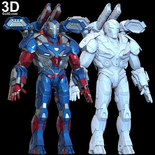 3D Print Model: Avengers Endgame' Iron Patriot Armor Suit File Format STL #6147