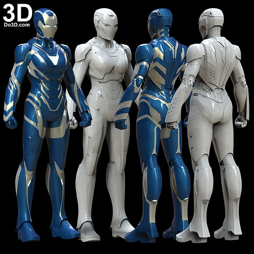 Rescue Engame Armor Iron Man Mark XLIX MK 49 3D Model Project #5887