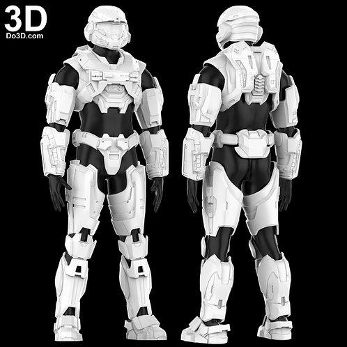 Halo Reach Armor / Mark V[B] SPARTAN B312 Noble 6 | 3D Model Project #5387