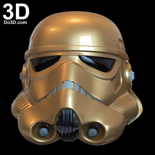 Imperial Stormtrooper Gold Helmet Star Wars ANH Classic | 3D Model Project #6736