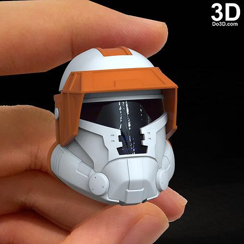 3D Print Model: Havoc Trooper Action Figure / Statue Head Squad Squadron Helmet