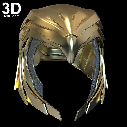 Wonder Woman Golden Eagle Helmet 1984 Diana's   3D Model Project #6648
