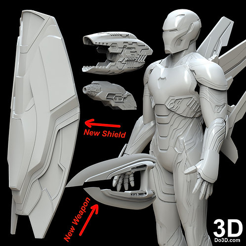Iron Man Mark L Shield Double Blade and Blasters MK 50, 3D Model Project #4971