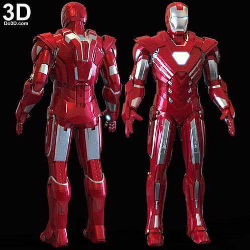 Iron Man Mark XXXIII Silver Centurion MK 33 Armor Suit 3D Model Project #6052