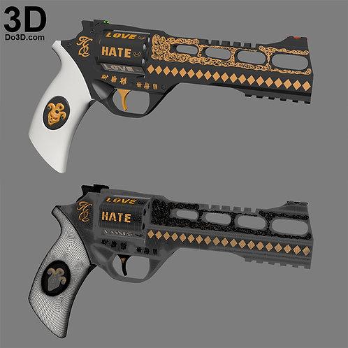 Harley Quinn's Revolver Suicide Squad Pistol Gun | 3D Printable Model #1188