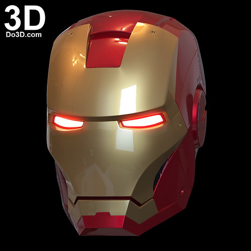 3D Printable Model: Iron Man Mark III Helmet (MK 3) Print File Format STL #N39