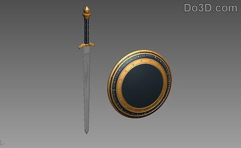 Wonder Woman Sword of Athena & Shield BVS | 3D Printable Model #526