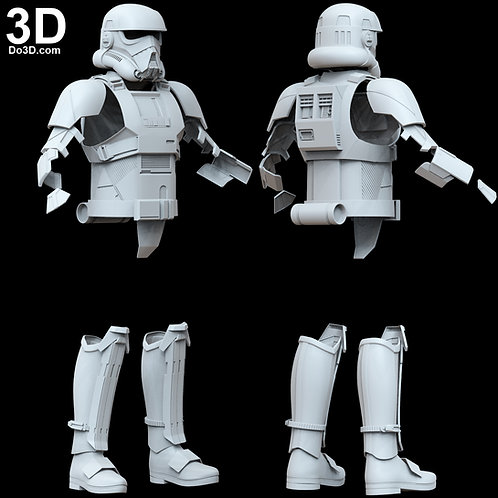 Patrol Trooper Helmet, Armor, and Boots Star Wars | 3D Model Project #4672