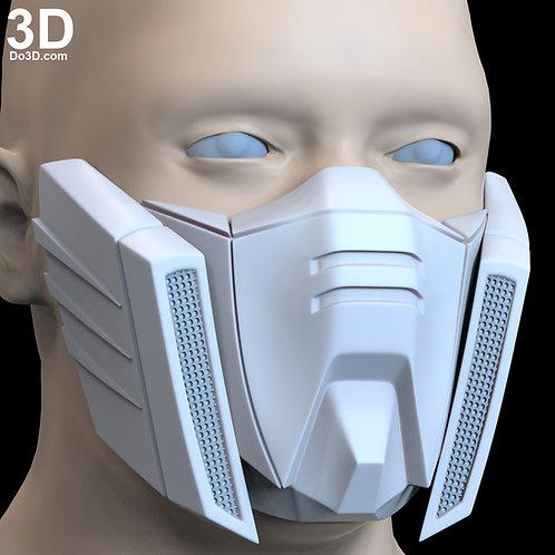 GF13-017NJII God Gundam Burning Gundam Style Face Mask | 3D Printable Model #F4