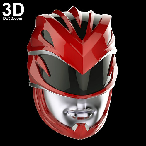 Red Ranger 2017 Helmet Power Ranger | 3D Printable Model Project #1686