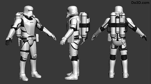 Flametrooper Armor Star Wars VII TFA | 3D Printable Model Project #247