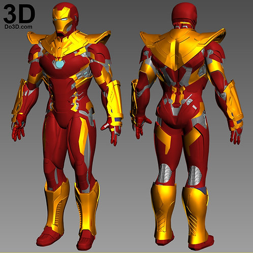 Iron Man Mark XLVI Armor Variant MK 46 | 3D Model Project #1882