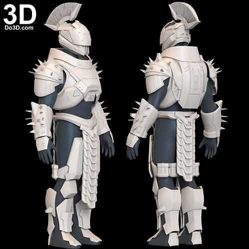 Saint-14 Full Armor + Helmet from Destiny 2 Lore | 3D Model Project #6530