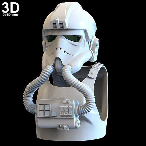 Tie Fighter Pilot Classic Star Wars Armor with Helmet | 3D Model Project #5207