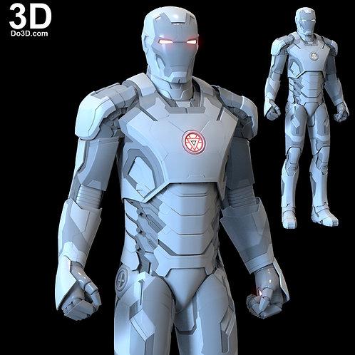 Iron Man Mark XLII XLIII Helmet + Armor MK 42 43 | 3D Model Project #46