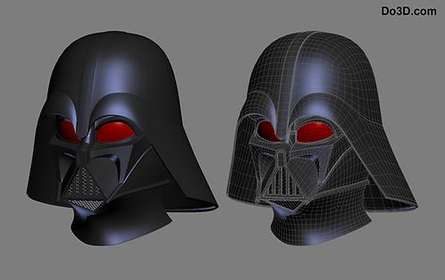 Darth Vader Rebels Helmet from Star Wars   3D Model Project #316