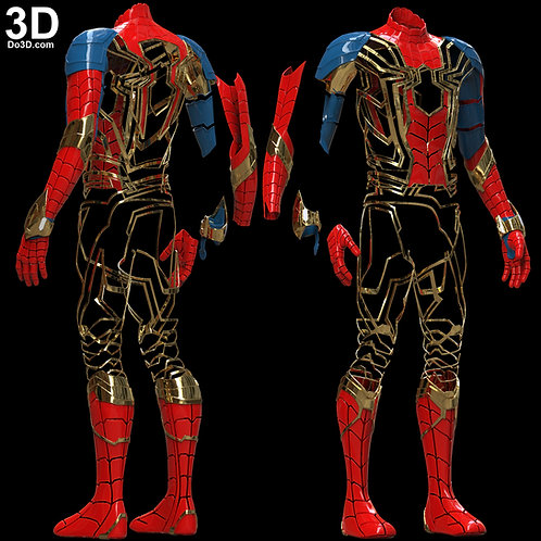 Iron Spider Man Infinity War Full Body Armor Pieces | 3D Model Project #5618