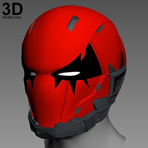 Red Hood Joker Variant Helmet Cowl | 3D Model Project #N02