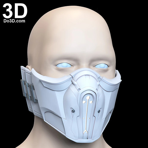 Mortal Kombat Sub-Zero Sub Zero Mask 3D Printable Model Subzero STL#1311