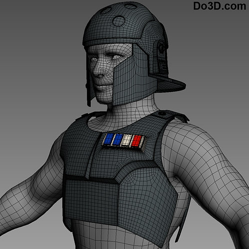 Agent Kallus Star Wars Rebels Helmet & Chest Armor | 3D Model Project #494