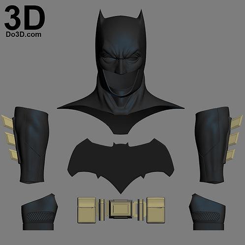 Batman V. Superman Cowl, Belt, Gauntlet, Glove DOJ Set | 3D Model Project #1546