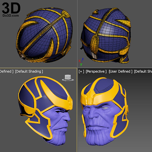 Thanos Helmet and Face Shell | 3D Printable Model #2058