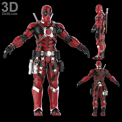 Armored DeadPool Armor Suit Concept | 3D Model Project #1225