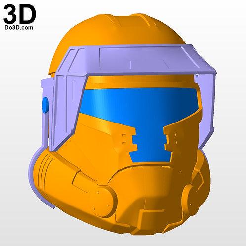 Havoc Trooper Squad Squadron Star Wars SWTOR Helmet | 3D Model Project #5975
