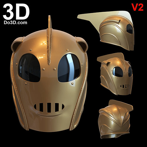 3D Printable Model: Rocketeer Helmet V2 | Print File Format:STL #4931