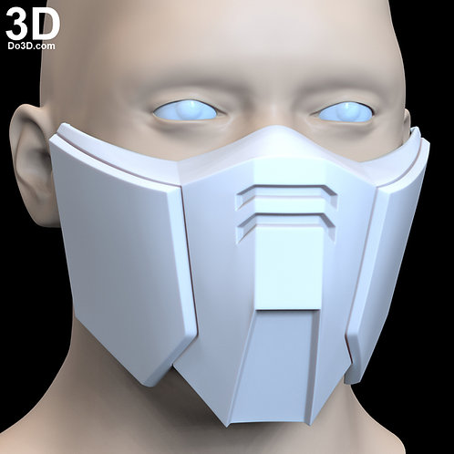 XXXG-01D Deathscythe Gundam Style Face Mask Covering | 3D Printable Model #F5