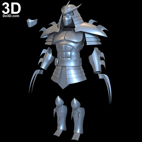 Shredder Armor Teenage Mutant Ninja Turtles Season 1, 3D Model Project #6546