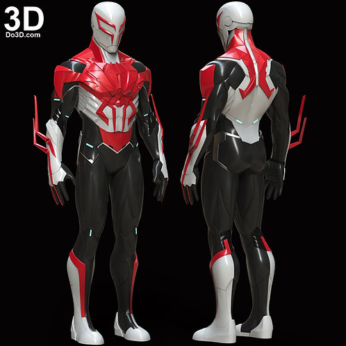 Armored Spider-man 2099 White Suit | 3D Model Project #5948
