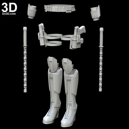 Black Widow Avengers Infinity War Set | 3D Model Project #4494