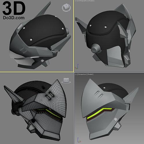 Genji OverWatch Helmet Mask  | 3D Model Project #1261