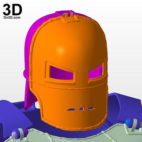 Iron Man Mark I Helmet from Tony Stark First Armor MK 1 3D Printable Model #N22