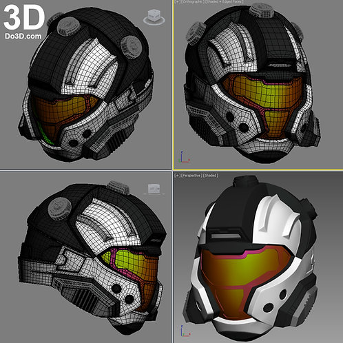 Halo CQB Helmet | 3D Model Project #711