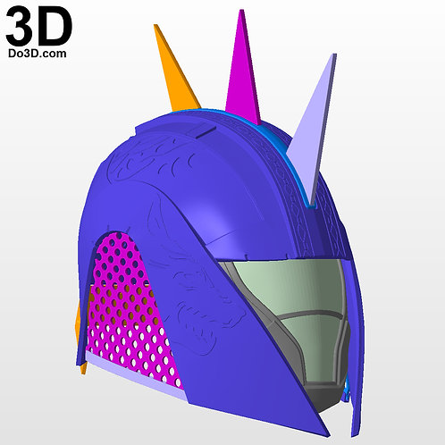 Iron Camelot Hood Helmet from Destiny | 3D Model Project #849