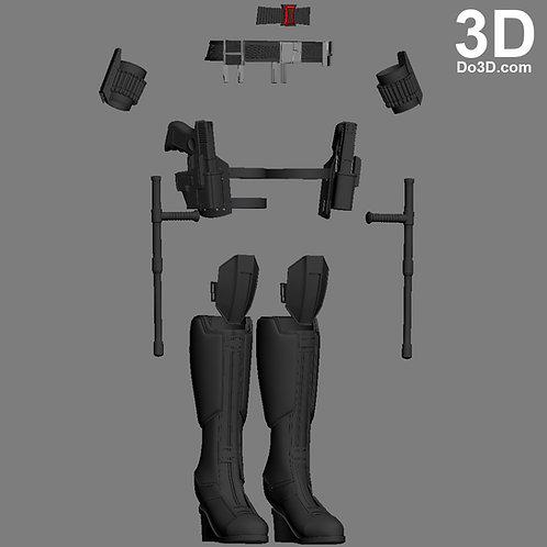 Black Widow Full Body Set from Captain America Civil War | 3D Model Project #696