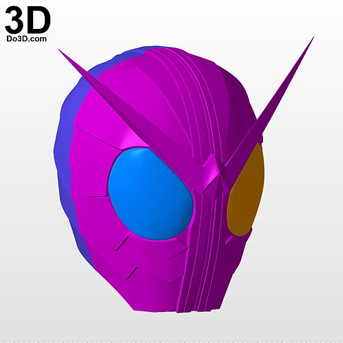 Kamen Rider W Cyclone Joker Helmet | 3D Model Project #5593