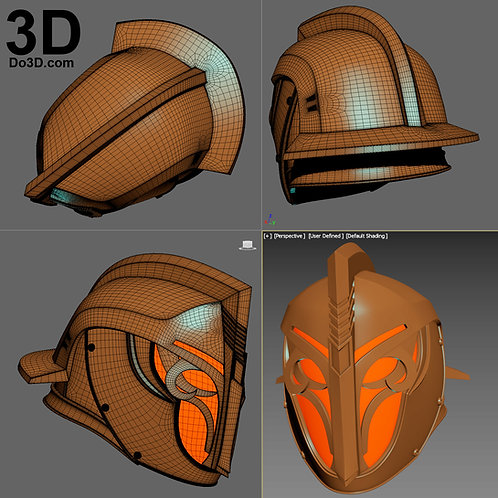 Titan Days of Iron Crown Ornamental Helmet Warlock Destiny, 3D Project #2000