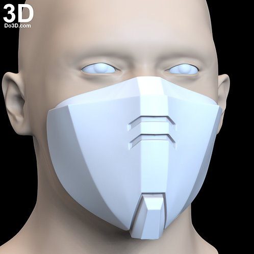 RX-0 Unicorn Gundam Style Face Mask Covering | 3D Printable Model #F6