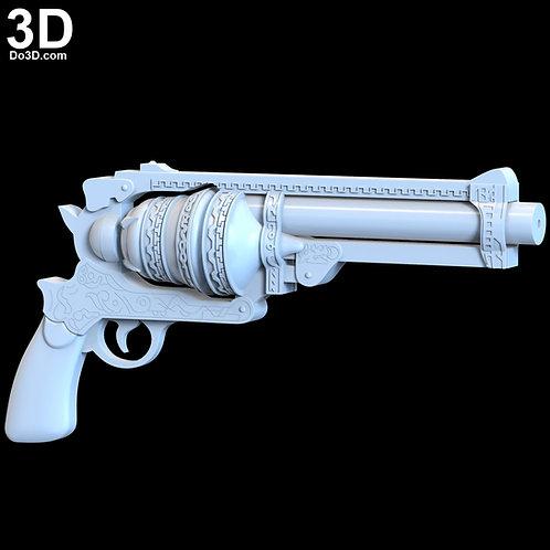 SINoALICE Cinderella Pistol Gun Cosplay Weapon Prop | 3D Model Project #4795