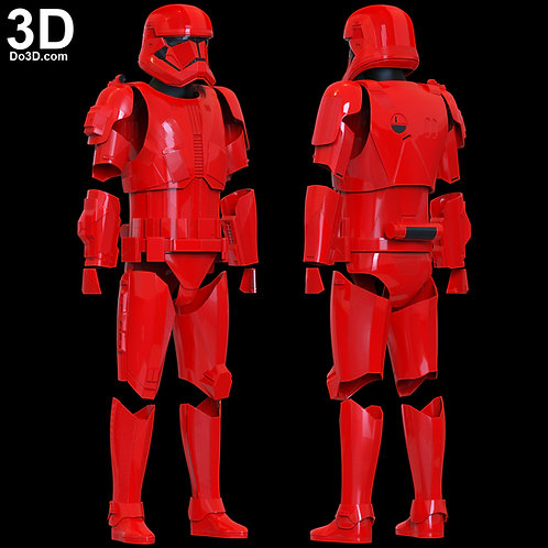 Sith Trooper Full Armor Suit Star Wars | 3D Model Project #6038