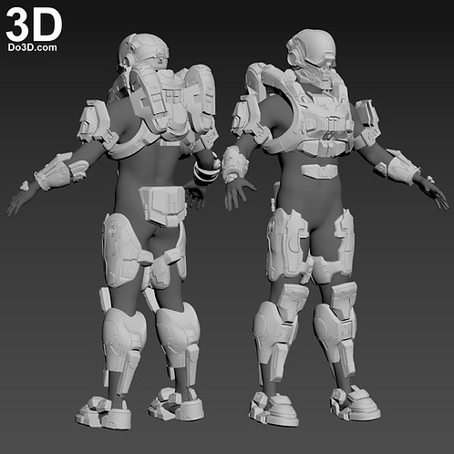 Halo Locus Helmet and Full Body Armor | 3D Model Project #4312