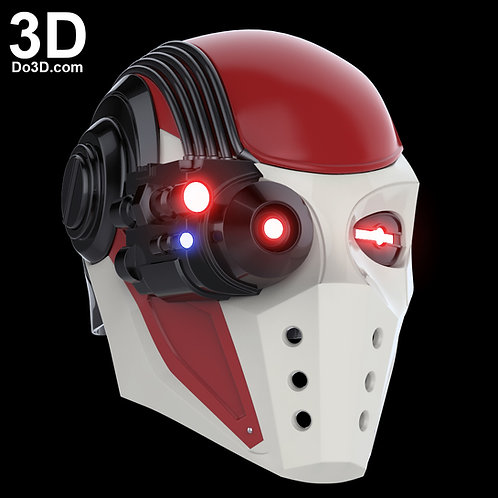 Deadshot Helmet Injustice 2 Mask, Cowl | 3D Printable Model Print STL File #1282